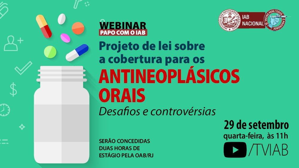 Projeto de Lei sobre a cobertura para os antineoplásicos orais