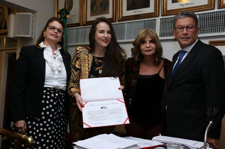 Da esq., para a dir., Adriana Brasil Guimarães, Carmela Grüne, Rita Cortez e Antonio Laért Vieira Junior